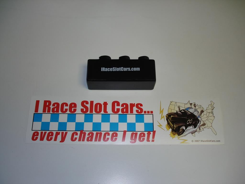 IRaceSlotCars Stress Reliever & Bumpersticker